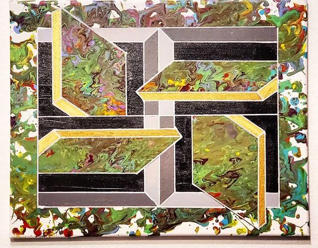 _Drip Quartet_ - Acrylic on canvas, 20_