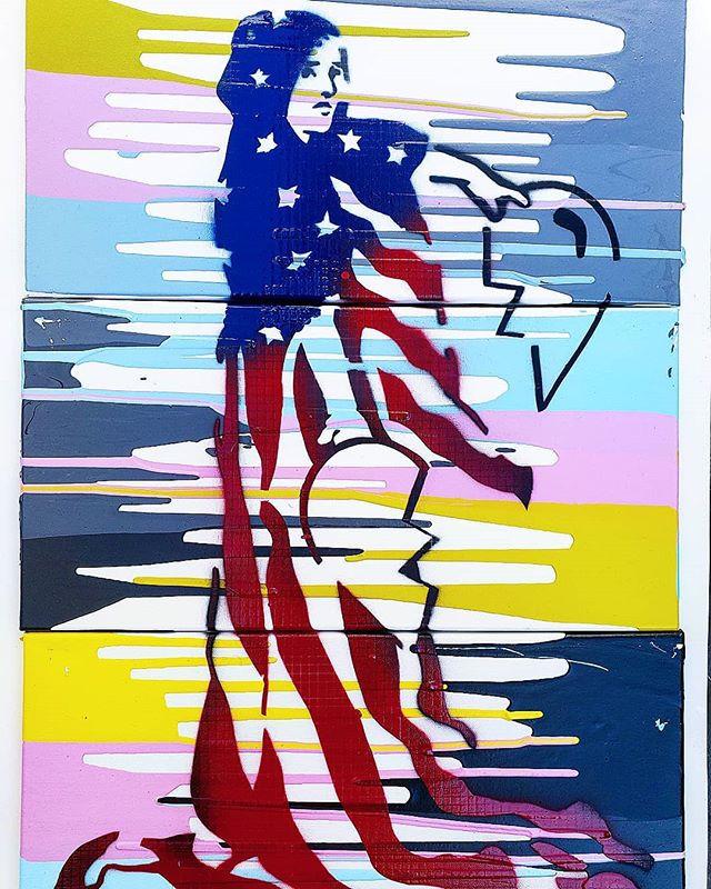 _America the Broken, V1_ - Poured acryli