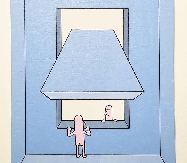 🗼65, Acrylic on canvas, 16_ x 20___#ill