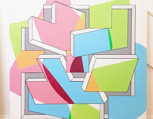 _Tetris_ - Acrylic on canvas, 36_ × 36_