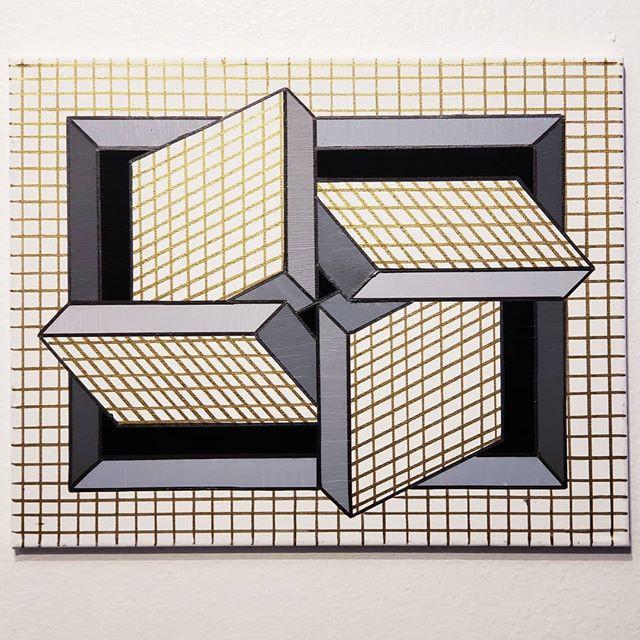 _Mesh Quartet_ - Acrylic on canvas, 16_