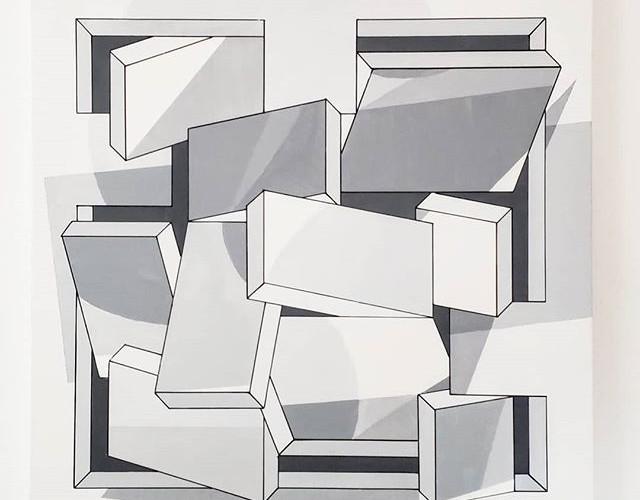 _Monochromania_ - Acrylic on canvas, 36_