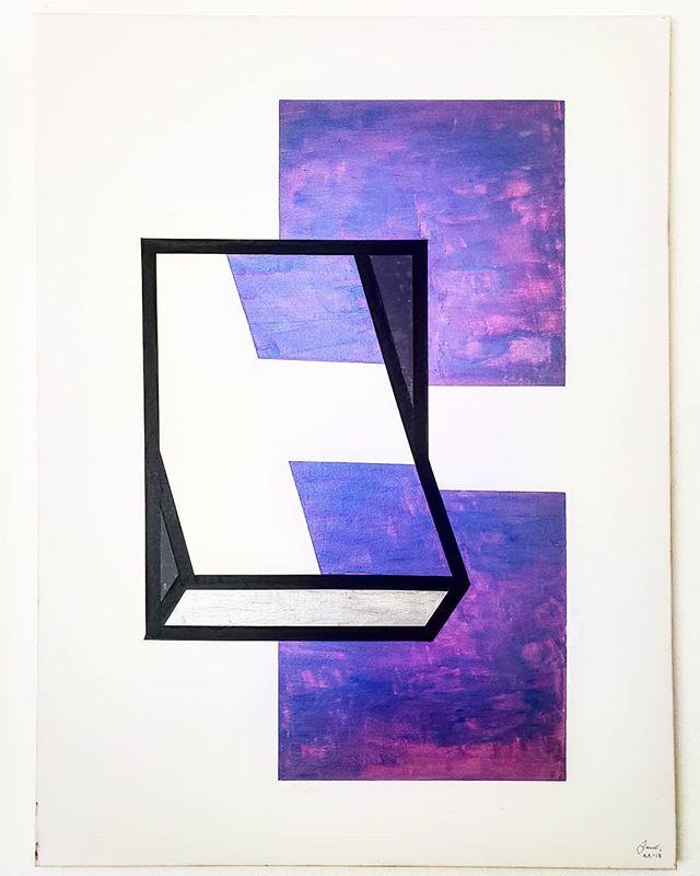 _Color Purple_ - Acrylic on canvas, 24_