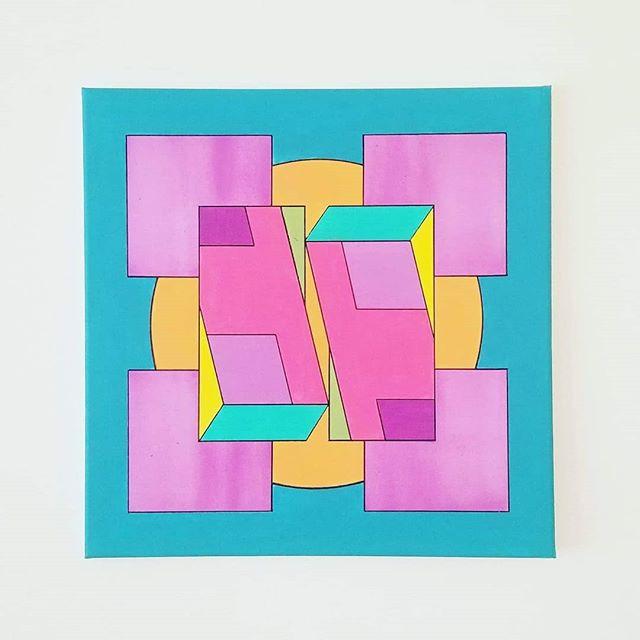 _Fresh Prints_ - Acrylic on canvas, 20_x
