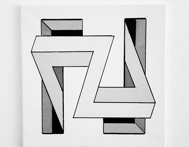 _Bender_ - Acrylic on canvas, 14_ × 14__