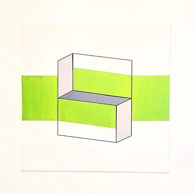 _SOLD_ _Kiwi_ - Acrylic on canvas, 20_ x