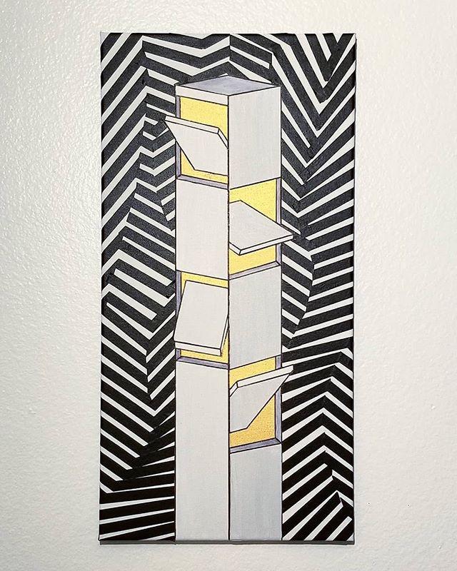 🕋 Acrylic & tape on canvas, 12_ x 24___