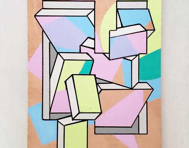 _Amused Bouche_ - Acrylic on wood. 9_ ×