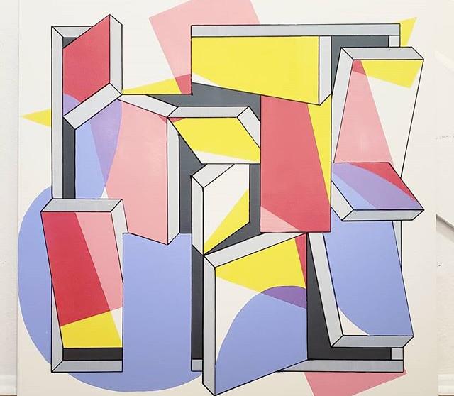 _Teddygram_ - Acrylic on canvas, 36_ × 3