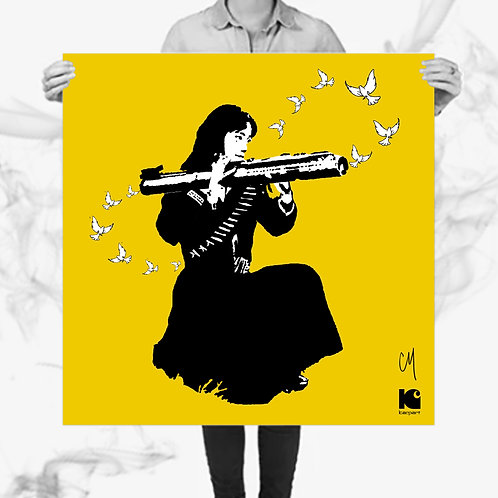 Never Ending Peace (Serigraph) - Kar_Part x Corie Mattie