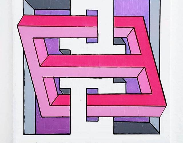 _Triples_ - Acrylic on canvas, 14_ × 14_