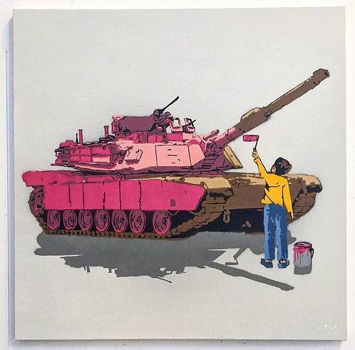 """""""Tank Painter"""", 36"""" x 36"""" (2020)"""
