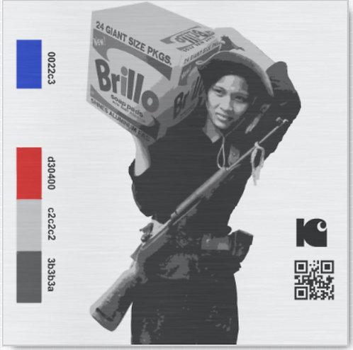 "Brillo Soldier - 12"" x 12"" Metal Print"