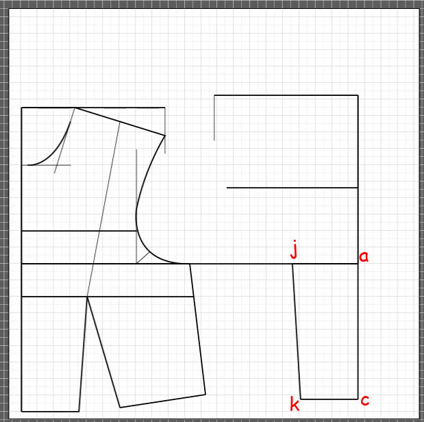 How to draft a back bodice 7
