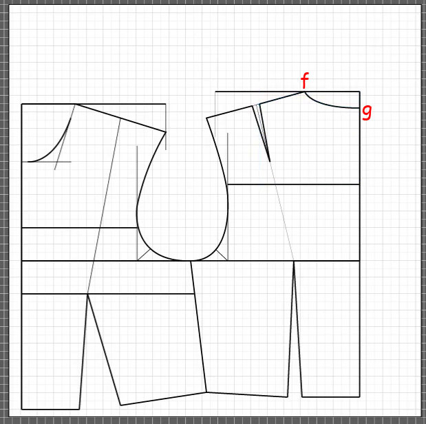 How to draft a back bodice 15