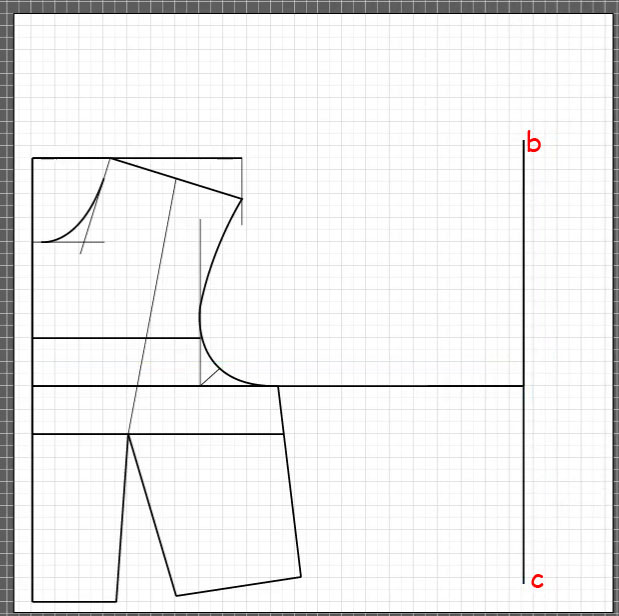 How to draft a back bodice 3