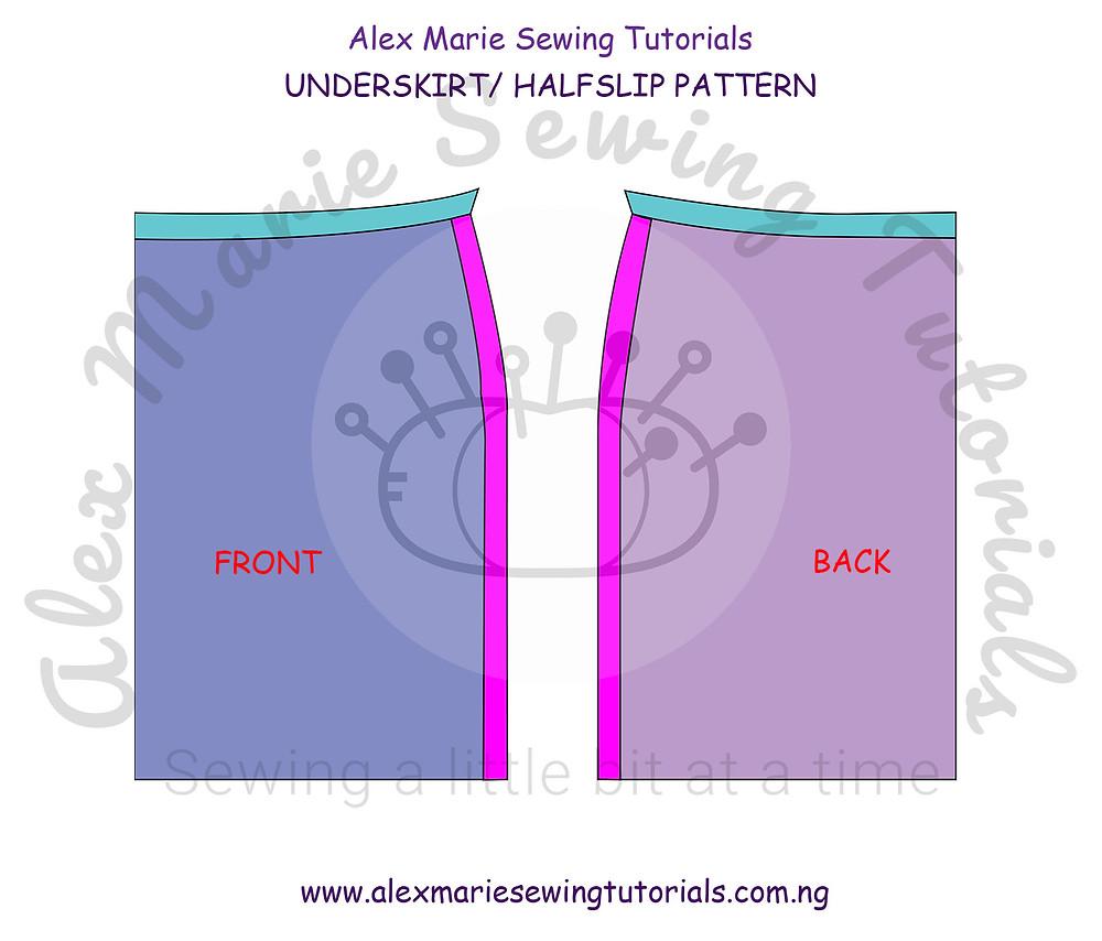 underskirt halfslip pattern