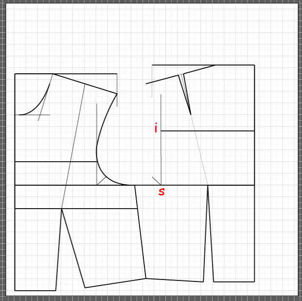 How to draft a back bodice 13