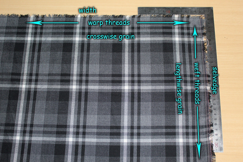 fabric grain lines