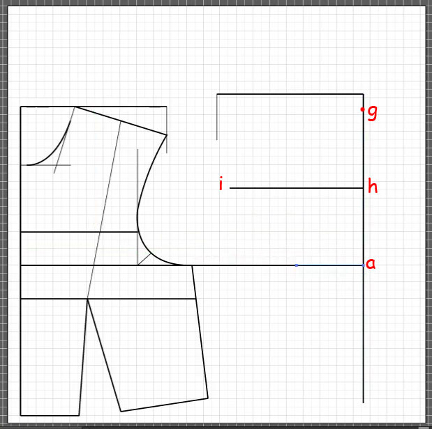 How to draft a back bodice 6