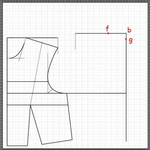 How to draft a back bodice 5