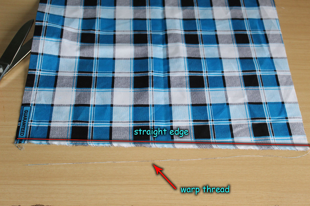 fabric with straight edge