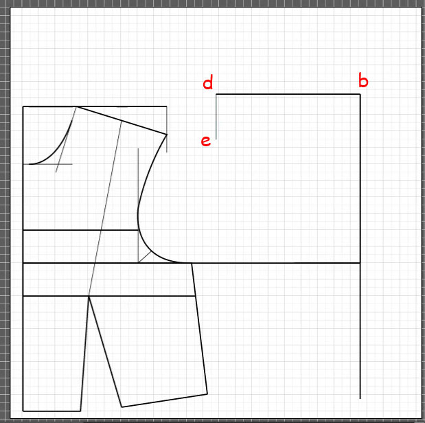How to draft a back bodice 4