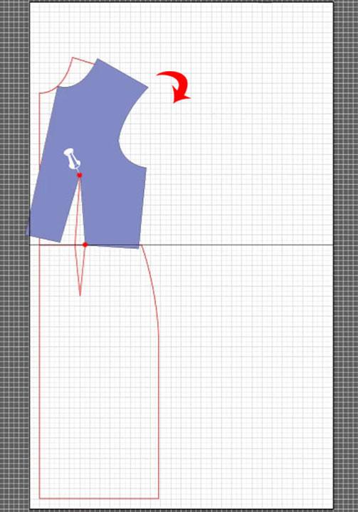 basic dress torso sloper pattern 5