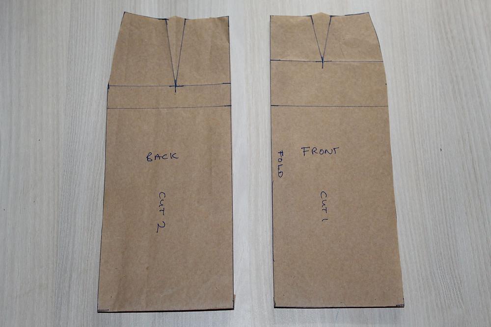 flat pattern drafting skirt