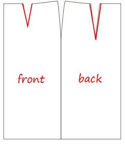 Draft of skirt sloper with darts
