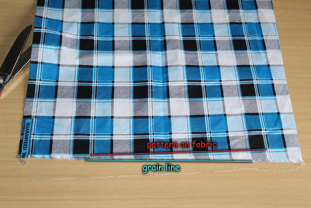 ankara fabric with check print