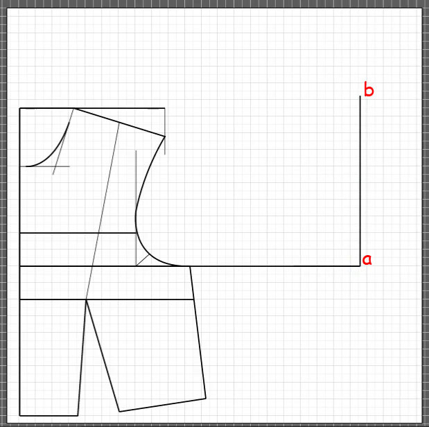 How to draft a back bodice 2