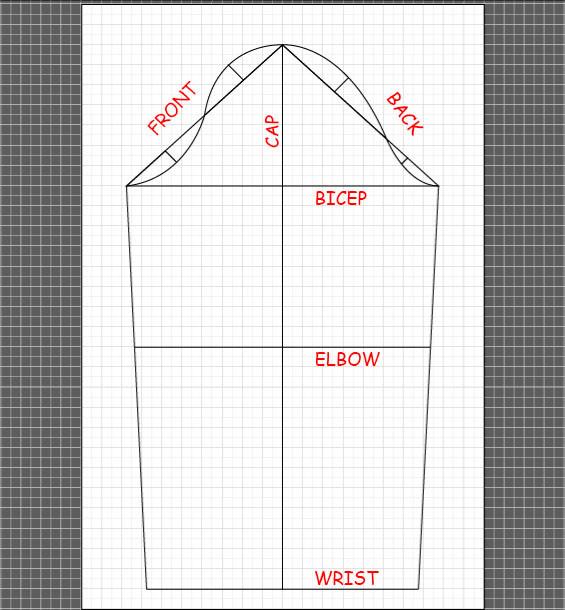 How to draft a basic sleeve 13