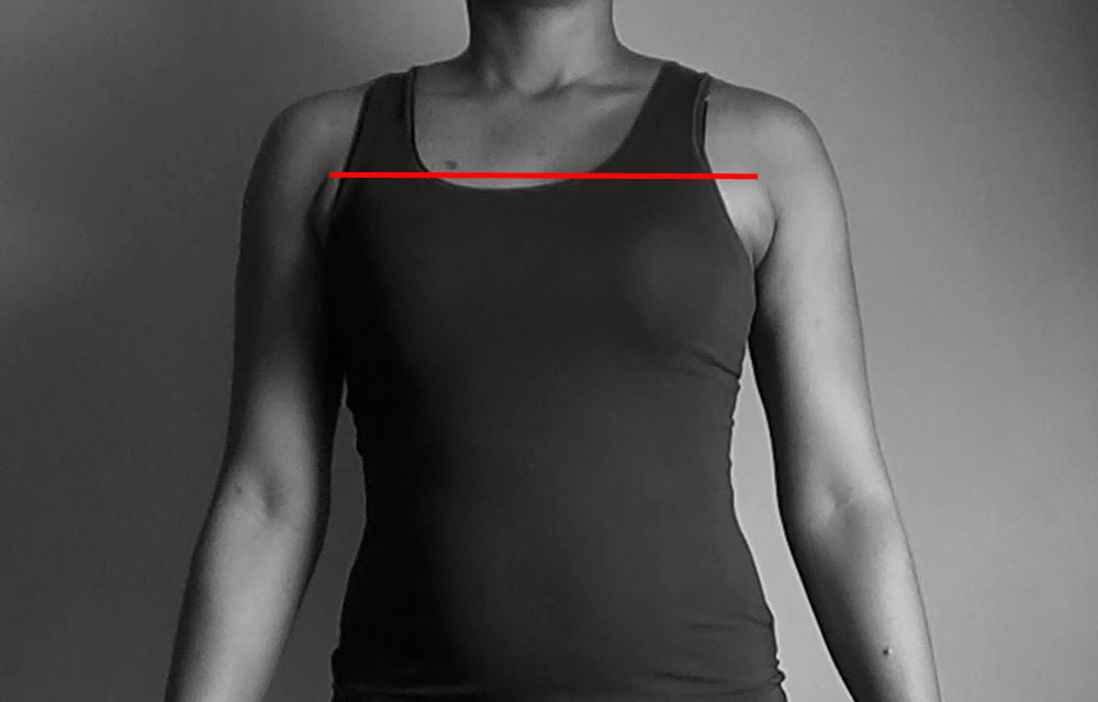 across chest measurement
