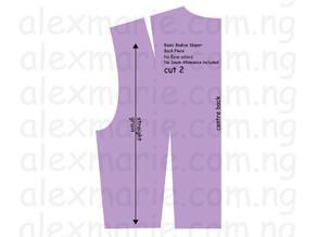 Sewing 204 (Part 2) - Pattern Drafting: Basic Bodice (Back)