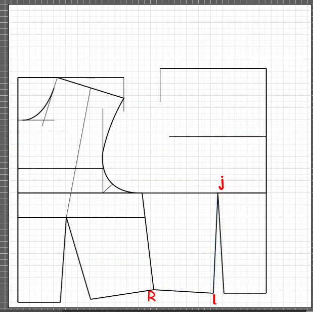 How to draft a back bodice 8