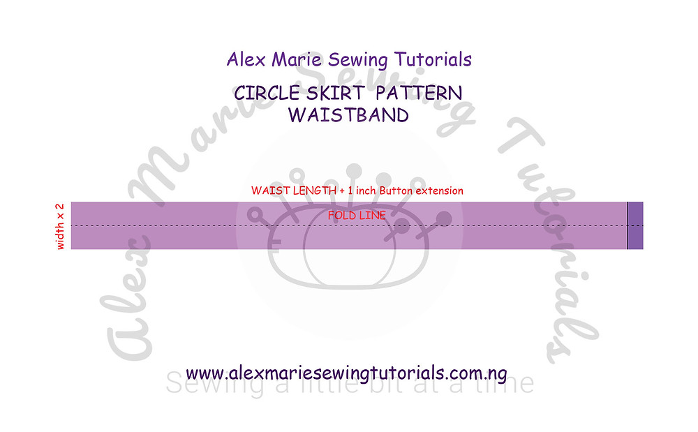 skirt straight waistband pattern