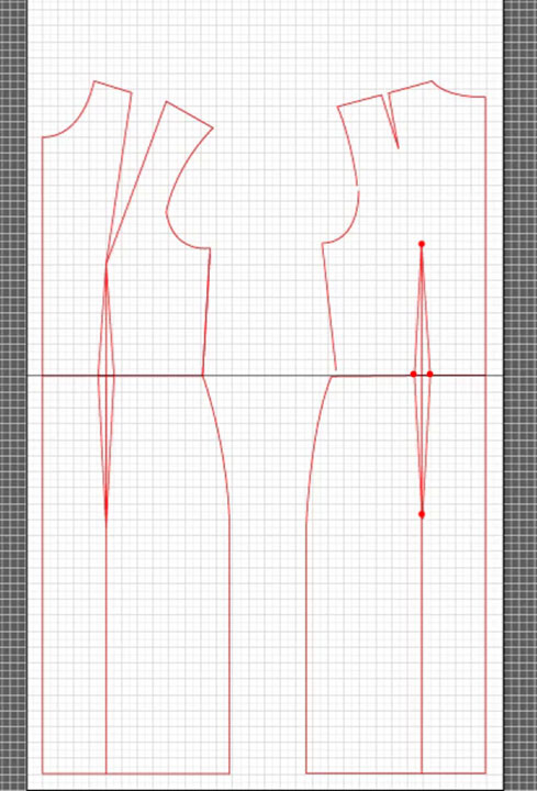 basic dress torso sloper pattern 13
