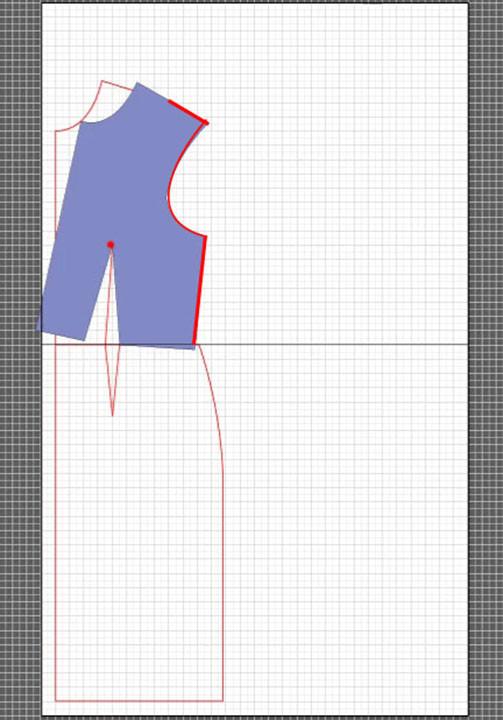 basic dress torso sloper pattern 6