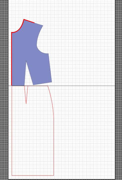 basic dress torso sloper pattern 4