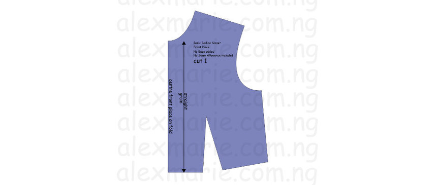 Sewing 204 (Part 1) - Pattern Drafting: Basic Bodice (Front)