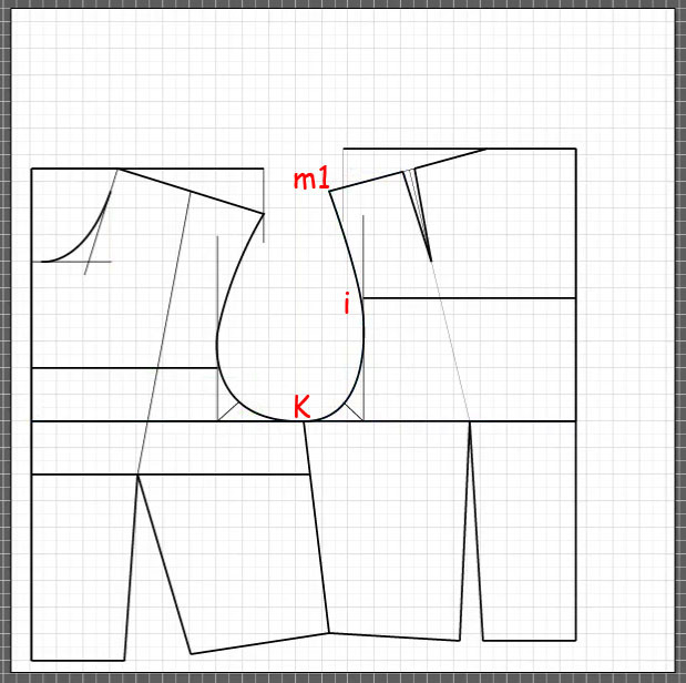 How to draft a back bodice 14