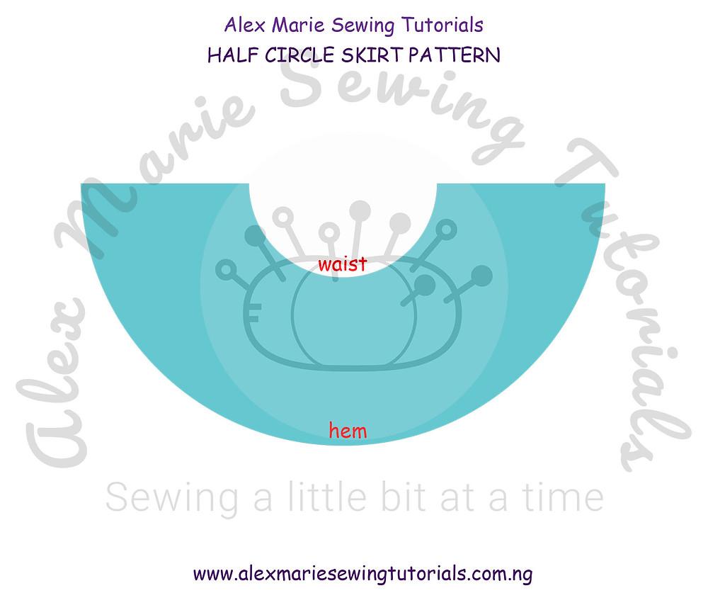half circle skirt pattern