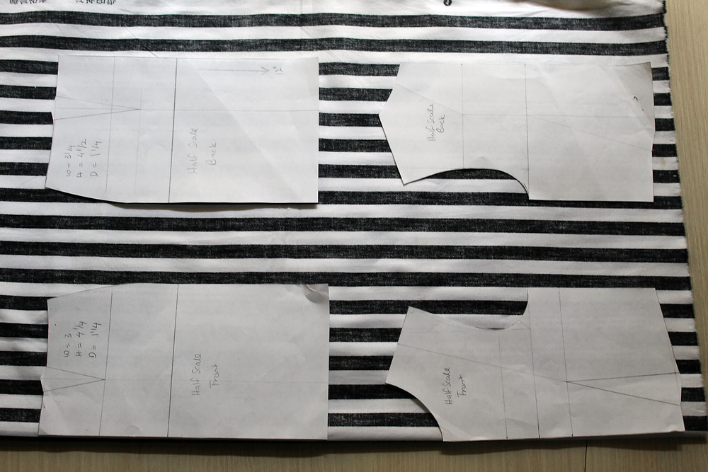 basic layout of patterns on fabric