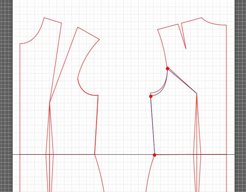 basic dress torso sloper pattern 14