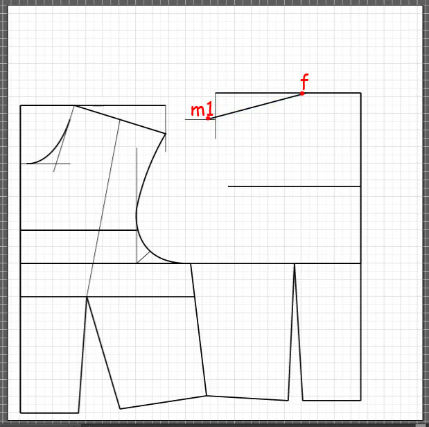 How to draft a back bodice 10