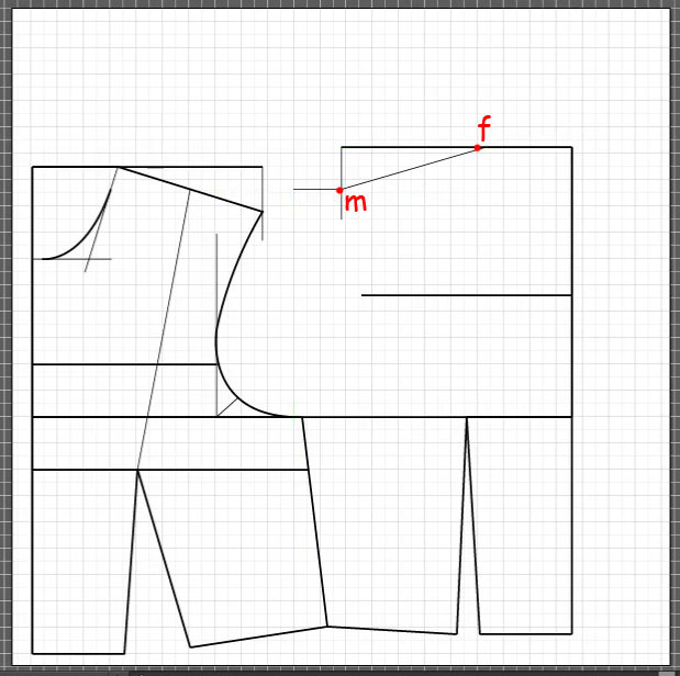 How to draft a back bodice 9