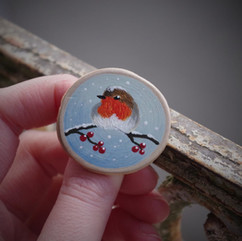 Broche - Le Rouge-gorge