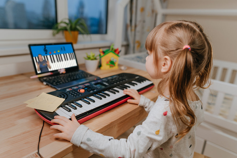 little girl watching piano video most bl