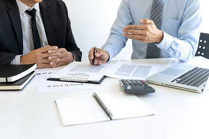 Sales man Real Estate agent offer and pr